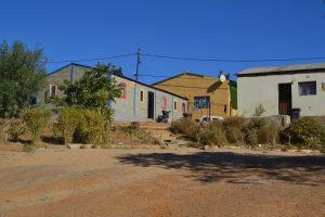 Het 'schooltje' temidden van de township